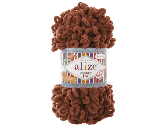 Alize Puffy Fine, 100% Micropolyester 5 Skein Value Pack, 500g фото 9