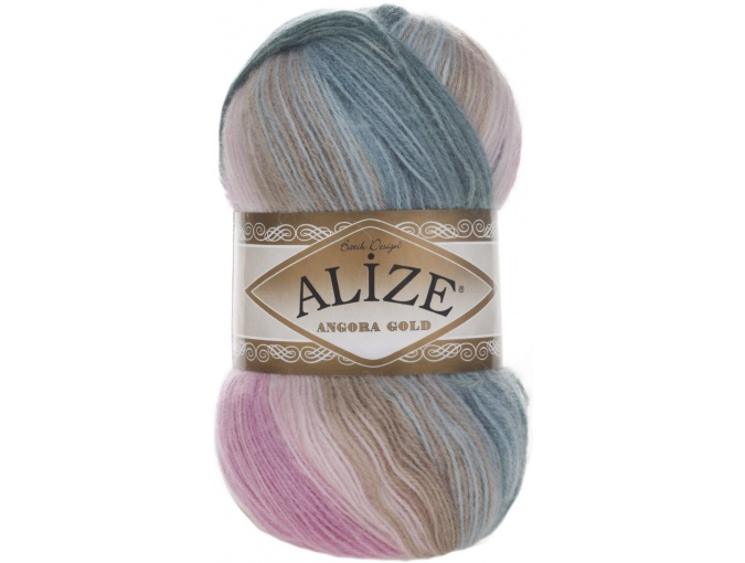 Alize Angora Gold Batik, 10% mohair, 10% wool, 80% acrylic 5 Skein Value Pack, 500g фото 14
