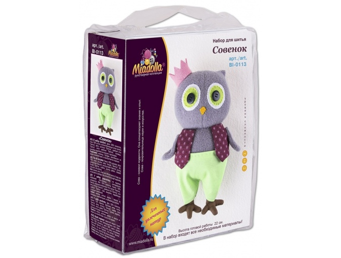 Owlet Toy Sewing Kit фото 3
