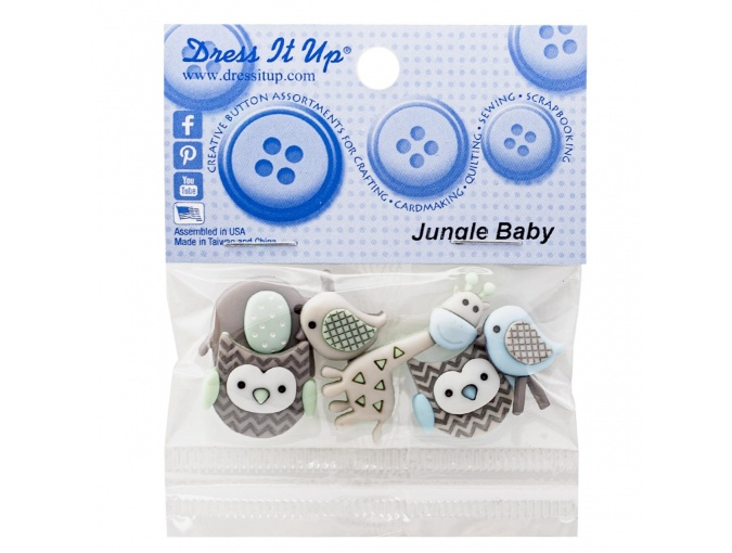 Jungle Baby Set of Decorative Buttons фото 3