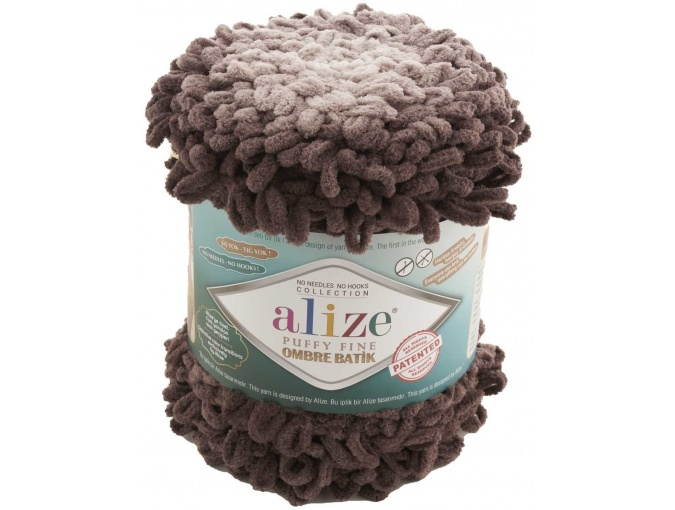 Alize Puffy Fine Ombre Batik, 100% Micropolyester 1 Skein Value Pack, 500g фото 3
