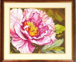 Cross Stitch Kit Peonies art 40-69