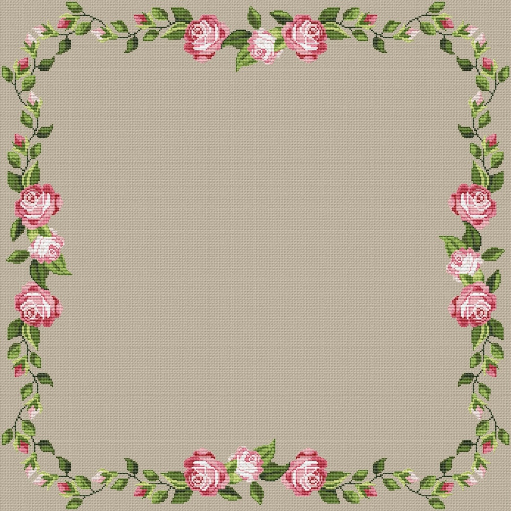 Rose Motif For Tablecloth 1 Cross Stitch Pattern Code Ao 171 Alisa Okneas Buy Online On Mybobbin Com