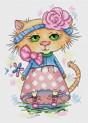 Walking Cat Cross Stitch Kit фото 1