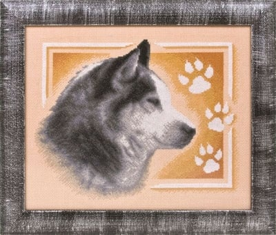 Siberian Husky Cross Stitch Kit фото 2