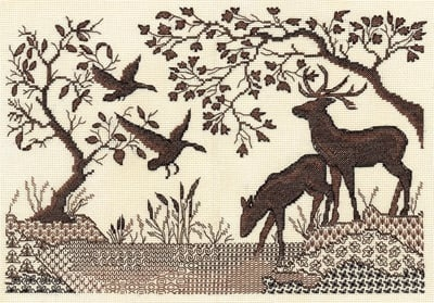 Deer by the River Cross Stitch Kit фото 2