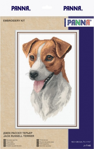 Jack Russell Terrier Cross Stitch Kit фото 2