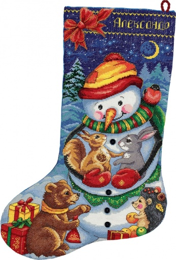 Snowman Stocking Cross Stitch Kit  фото 2