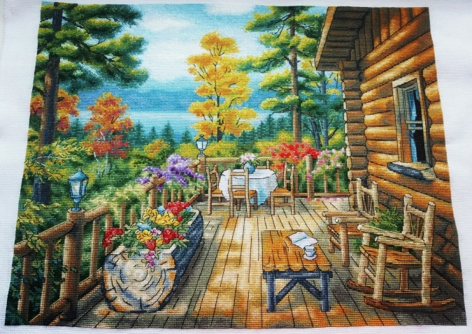 Lake House Cross Stitch Pattern фото 2