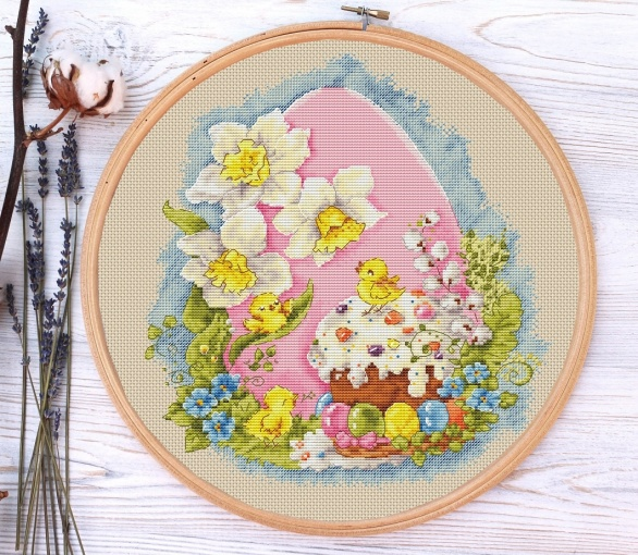 Easter Motives Cross Stitch Pattern фото 3