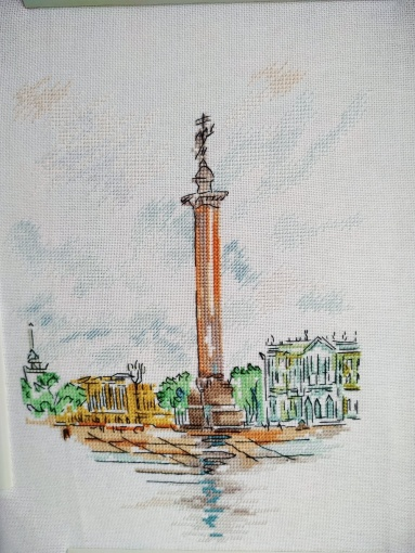 Alexandrian Column Cross Stitch Pattern фото 2