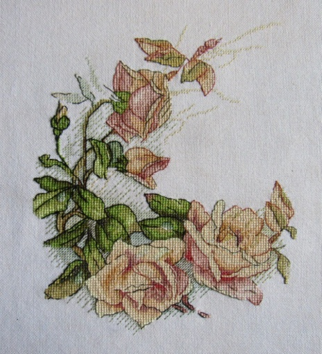 Vintage Roses Cross Stitch Pattern фото 2