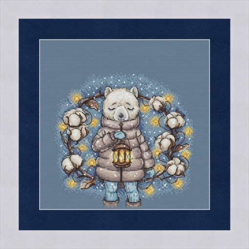 Winter Lamp Cross Stitch Chart фото 1