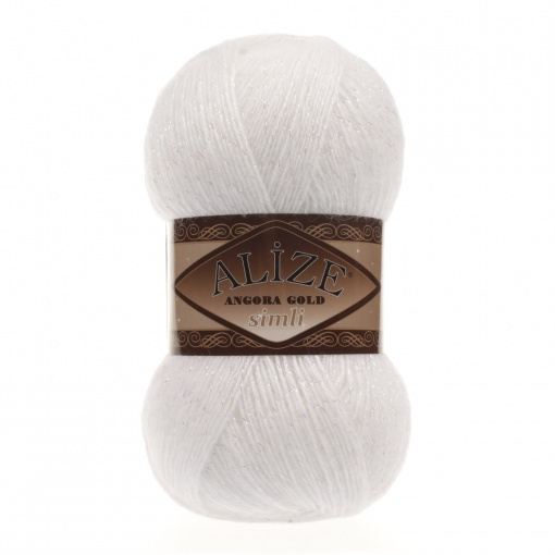 Alize Angora Gold Simli, 5% Lurex, 10% Mohair, 10% Wool, 75% Acrylic, 5 Skein Value Pack, 500g фото 10