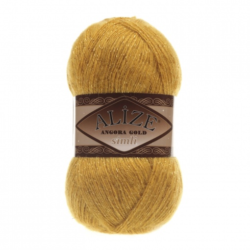 Alize Angora Gold Simli, 5% Lurex, 10% Mohair, 10% Wool, 75% Acrylic, 5 Skein Value Pack, 500g фото 3