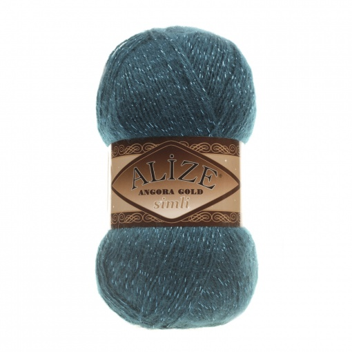 Alize Angora Gold Simli, 5% Lurex, 10% Mohair, 10% Wool, 75% Acrylic, 5 Skein Value Pack, 500g фото 4