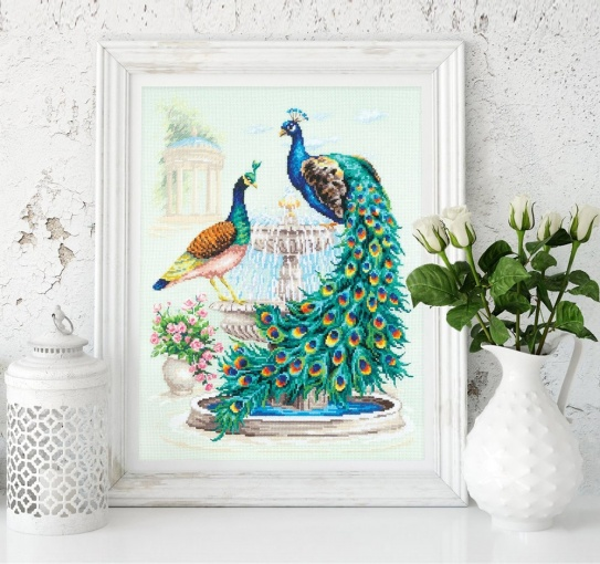 Peacocks Cross Stitch Kit фото 4